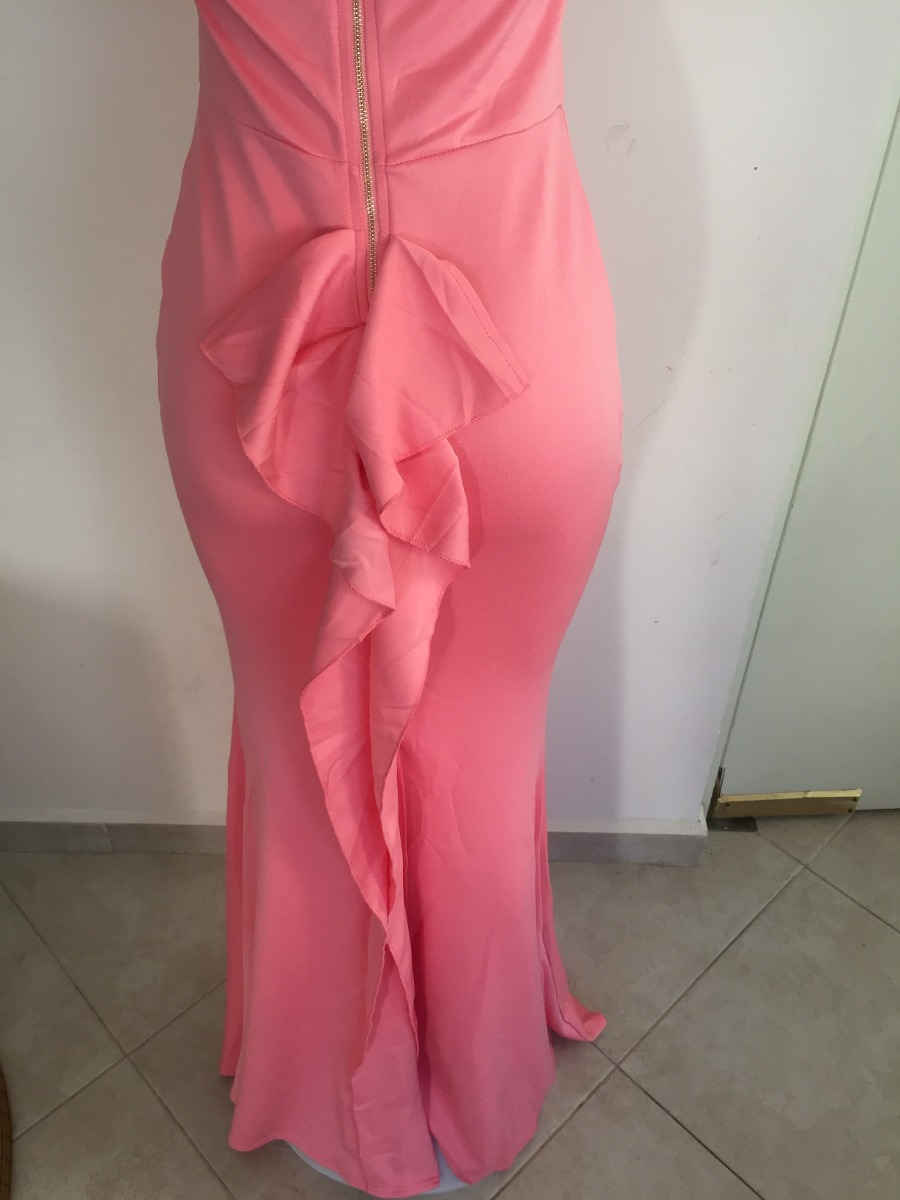 Vestido De Fiesta Blanco Rosa Sin Hombros Moda Largo Boda - $ 799.00 ...