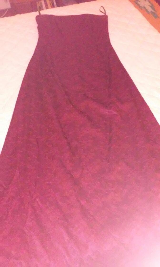 Vestido De Fiesta Bordo Strapless Importado. Con Chal. T 6-s - $ 800 ...
