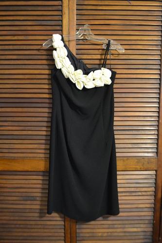 vestido de fiesta cocktail con detalle de flores talla m