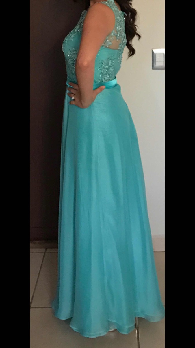 Vestidos de fiesta azul agua