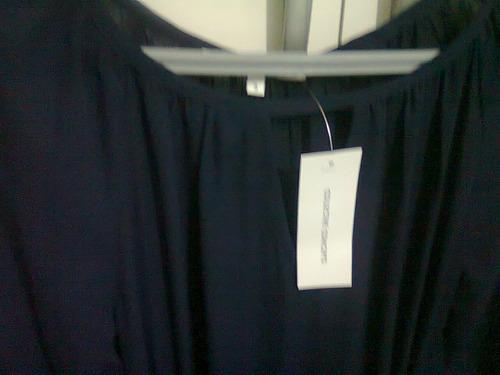 vestido de fiesta, color azul marino, talle s/m. sin uso.