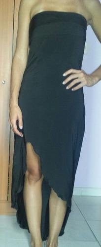 vestido de fiesta, color negro, usado
