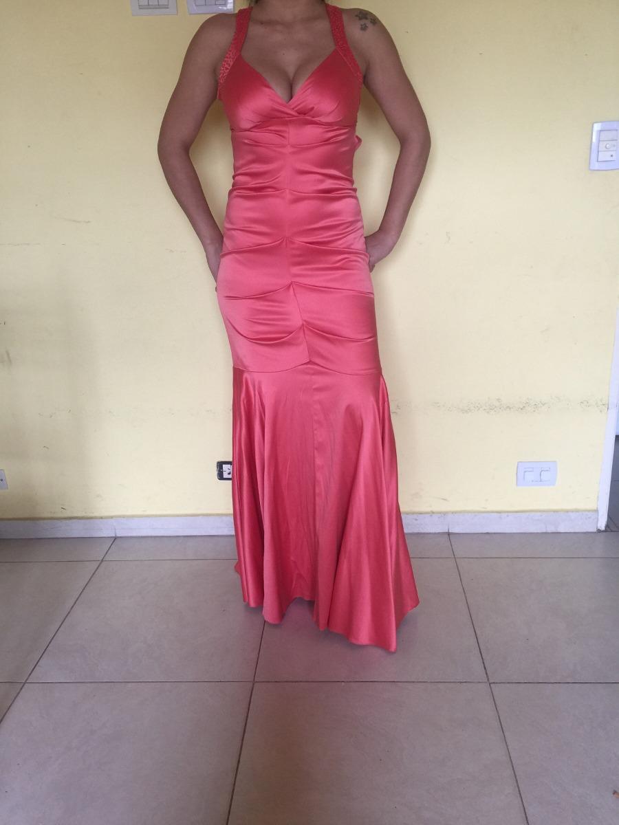Vestido De Fiesta Color Salmón - $ 1.000,00 en Mercado Libre