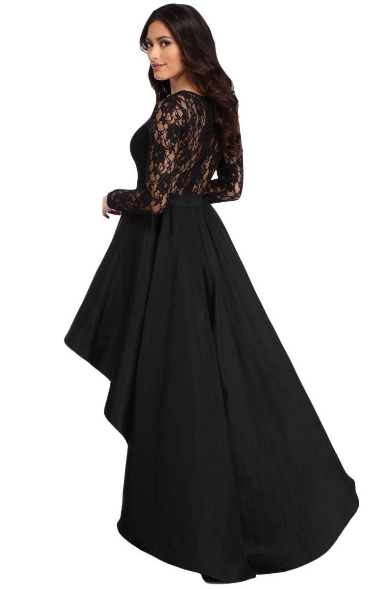 c782856c1 vestido de fiesta con cola de pato detalle encaje en pecho. Cargando zoom.
