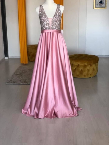 vestido de fiesta con pedreria