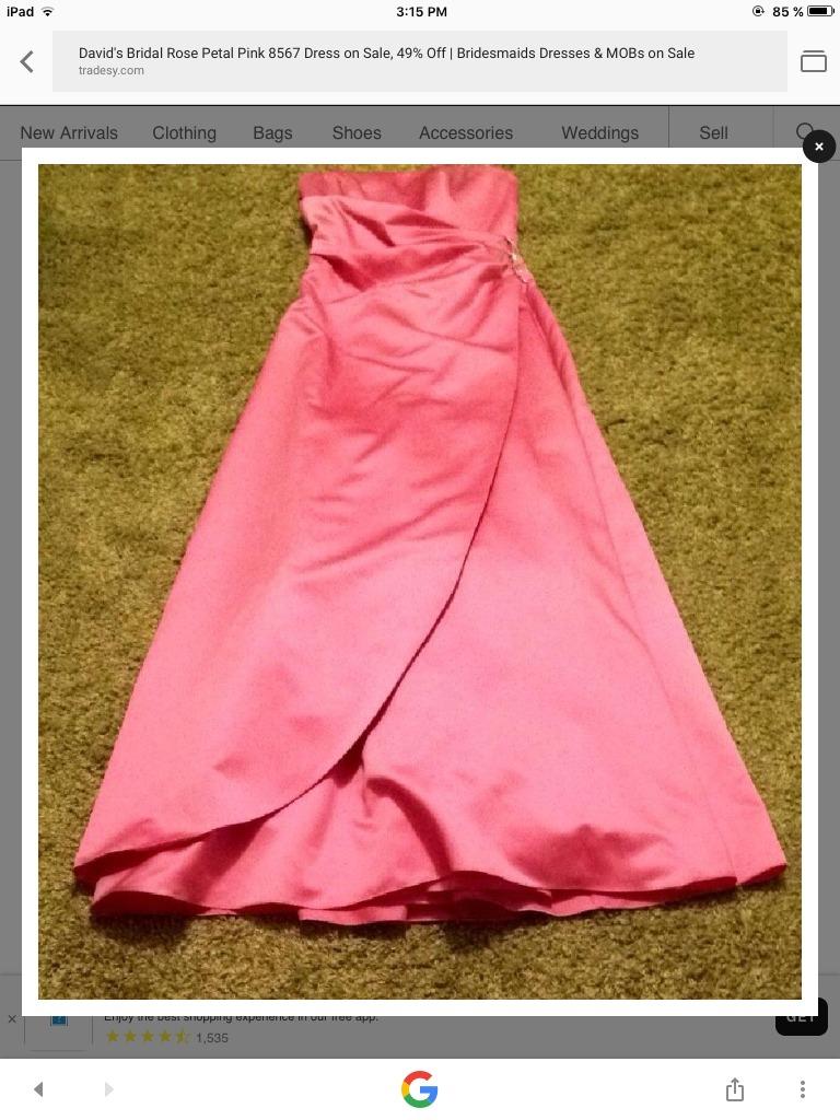 Vestido De Fiesta Coral Talla M David\'s Bridal Crinolina - $ 230.00 ...
