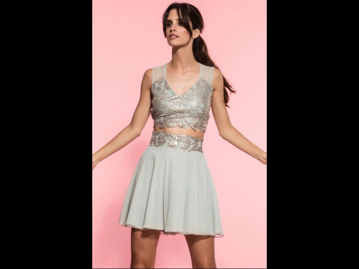 Vestido De Fiesta Corto Aqua Ciara - Premium Nuevo! - $ 4.250,00 en ...