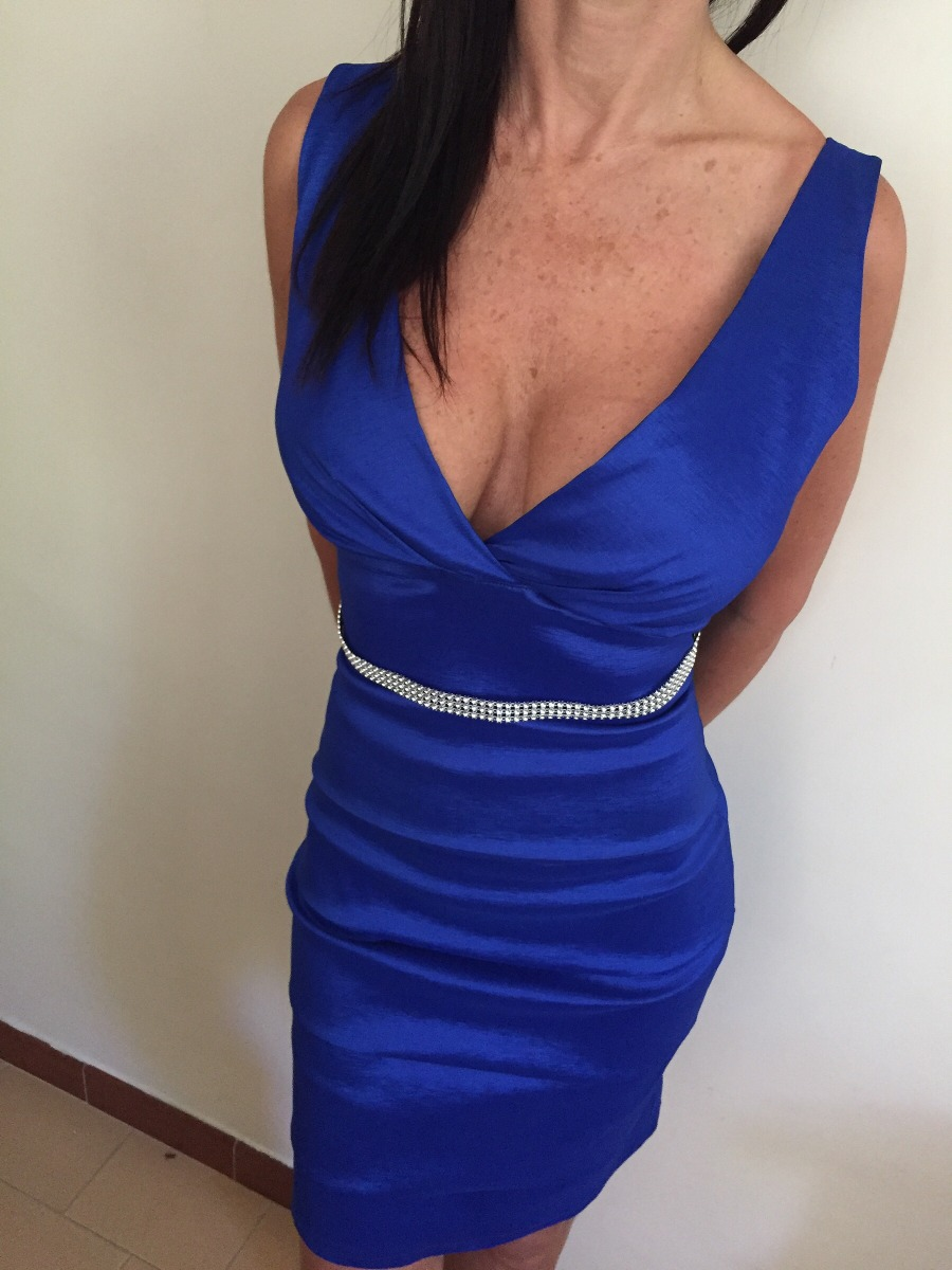 Vestidos cortos de fiesta color azul electrico