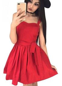 Cinto Fino Para Mujer Vestidos De Mujer Rojo En Mercado