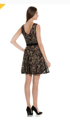 vestido de fiesta corto liz minelli. talla mediana