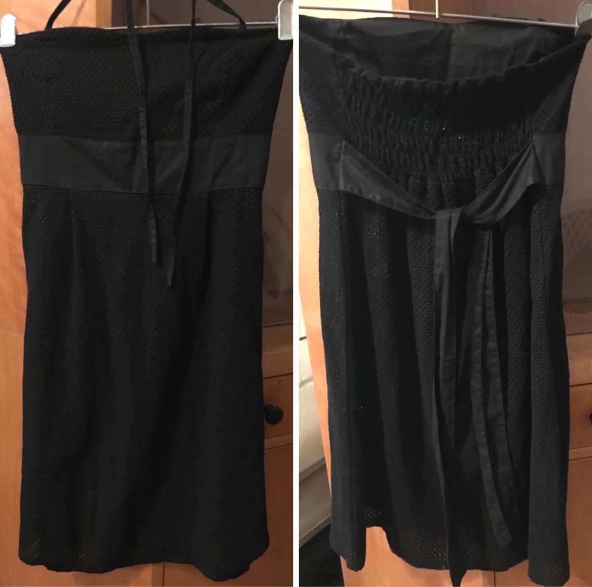 09ed519a6 vestido de fiesta corto negro strapless noche talle 1 2 envi. Cargando zoom.