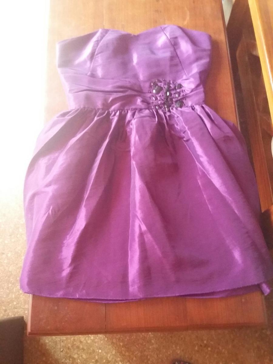 Vestido De Fiesta Corto Violeta - $ 250,00 en Mercado Libre