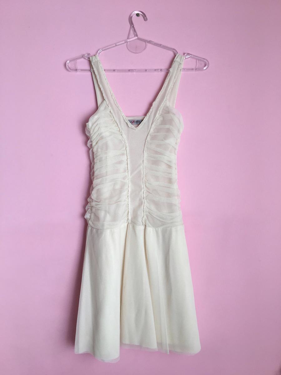 Vestido De Fiesta Crema Ts - $ 200,00 en Mercado Libre