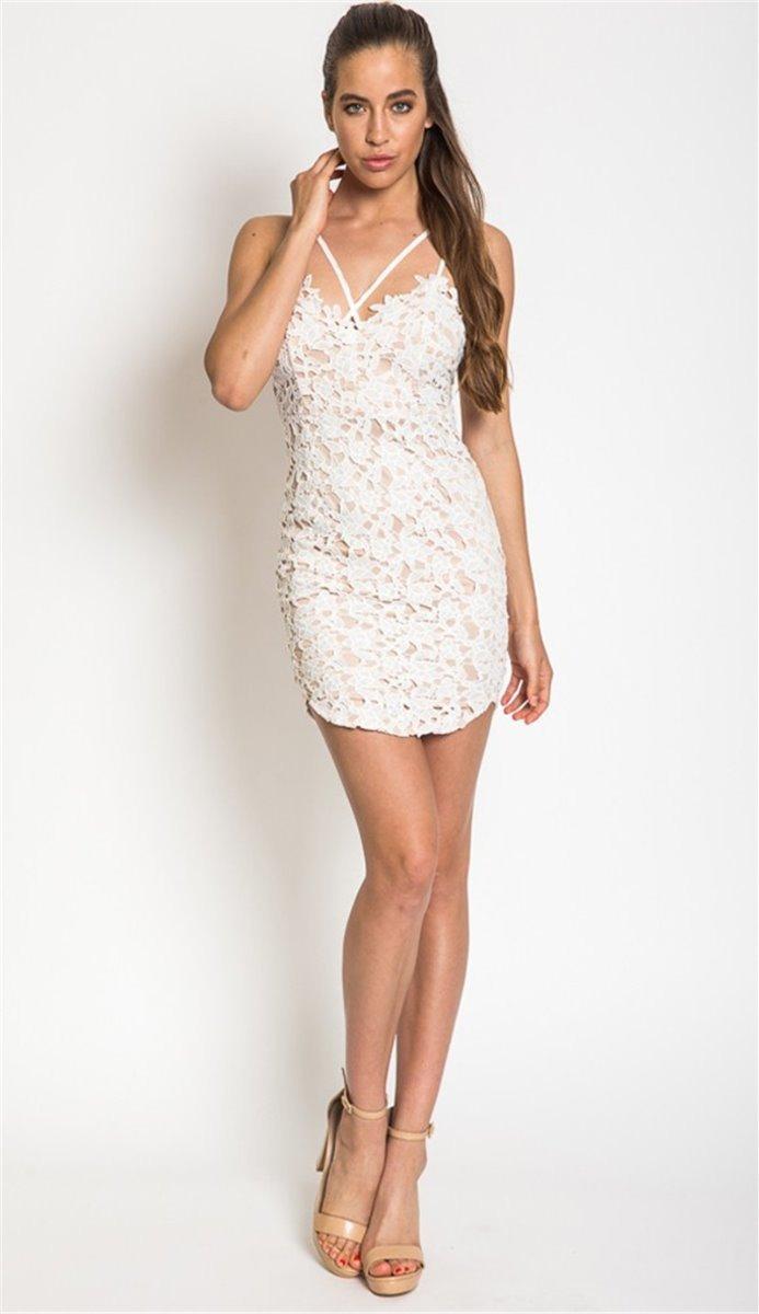 43dce543a vestido de fiesta de encaje blanco talla m nuevo en stock. Cargando zoom.