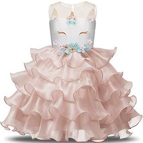 Vestido De Fiesta De Unicornio Para Niñas Talla 67 Nnjxd