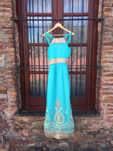 vestido de fiesta!!! diseño único de prishauy. telas hindúes
