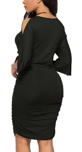 vestido de fiesta elasticado color negro 94