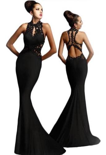 vestido de fiesta elasticado extra largo nuevo!!