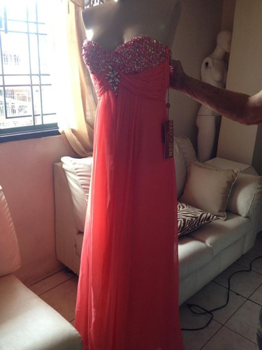 vestido de fiesta elegante largo