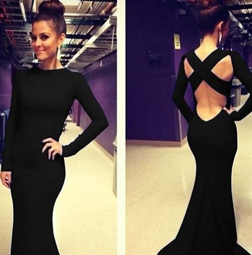 vestido de fiesta elegante largo sexy envío gratis 2259