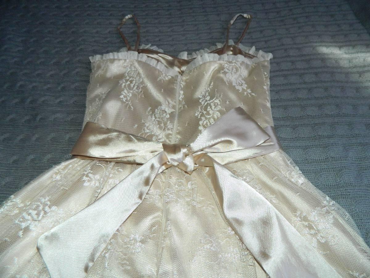 Vestidos de encaje color beige mercadolibre
