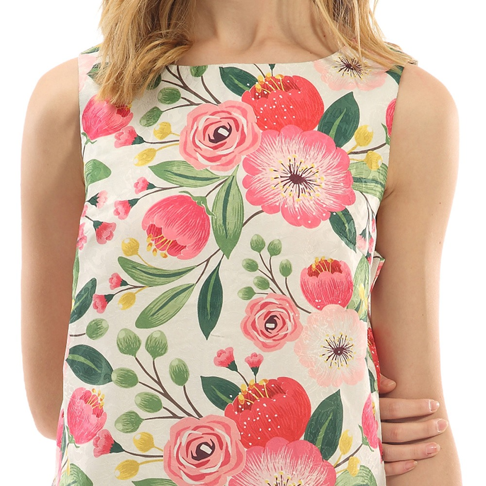 Vestido De Fiesta Floral Gamiss Para Mujer De Los Años 50 - $ 13.169 ...