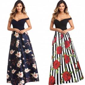 últimos diseños diversificados estilos clásicos calidad primero Vestidos Largos Elegantes Floreados De Noche Mujer ...