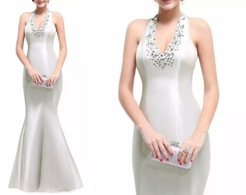 vestido de fiesta - gala (0101132)  elbauldecorina