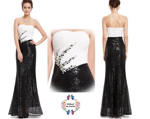 vestido de fiesta - gala - noche (0101136)  elbauldecorina