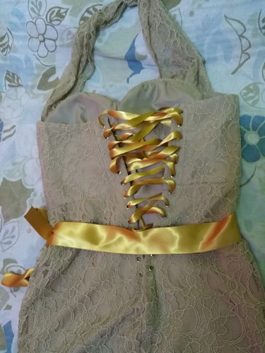 vestido de fiesta, hecho por modista. talla 32 a 34