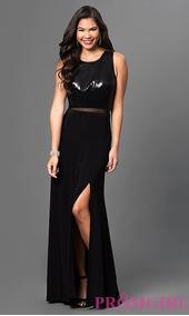 Vestido De Fiesta Importado Negro Simil 2 Piezas Con Tajo