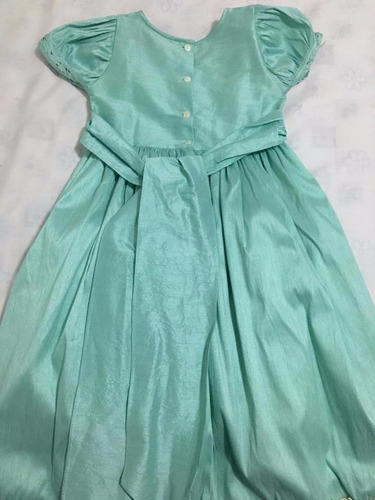 vestido de fiesta infantil (verde aqua)