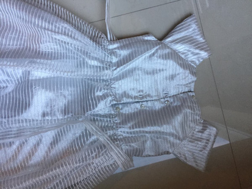 vestido de fiesta jona michelle niña talla 12 blanco