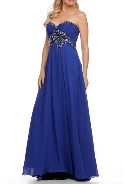 Vestidos de fiesta royal blue