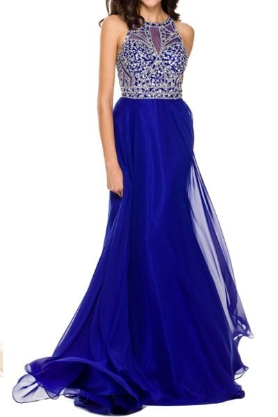 6fdbf5fda1242 Vestido De Fiesta Juliet Modelo 602   M Color Royal Blue ...