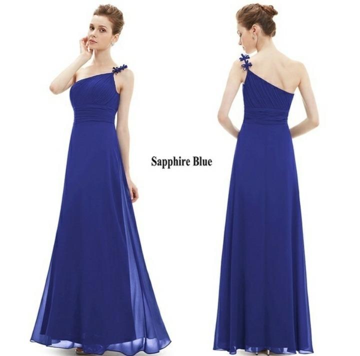 Vestidos de fiesta en azul francia