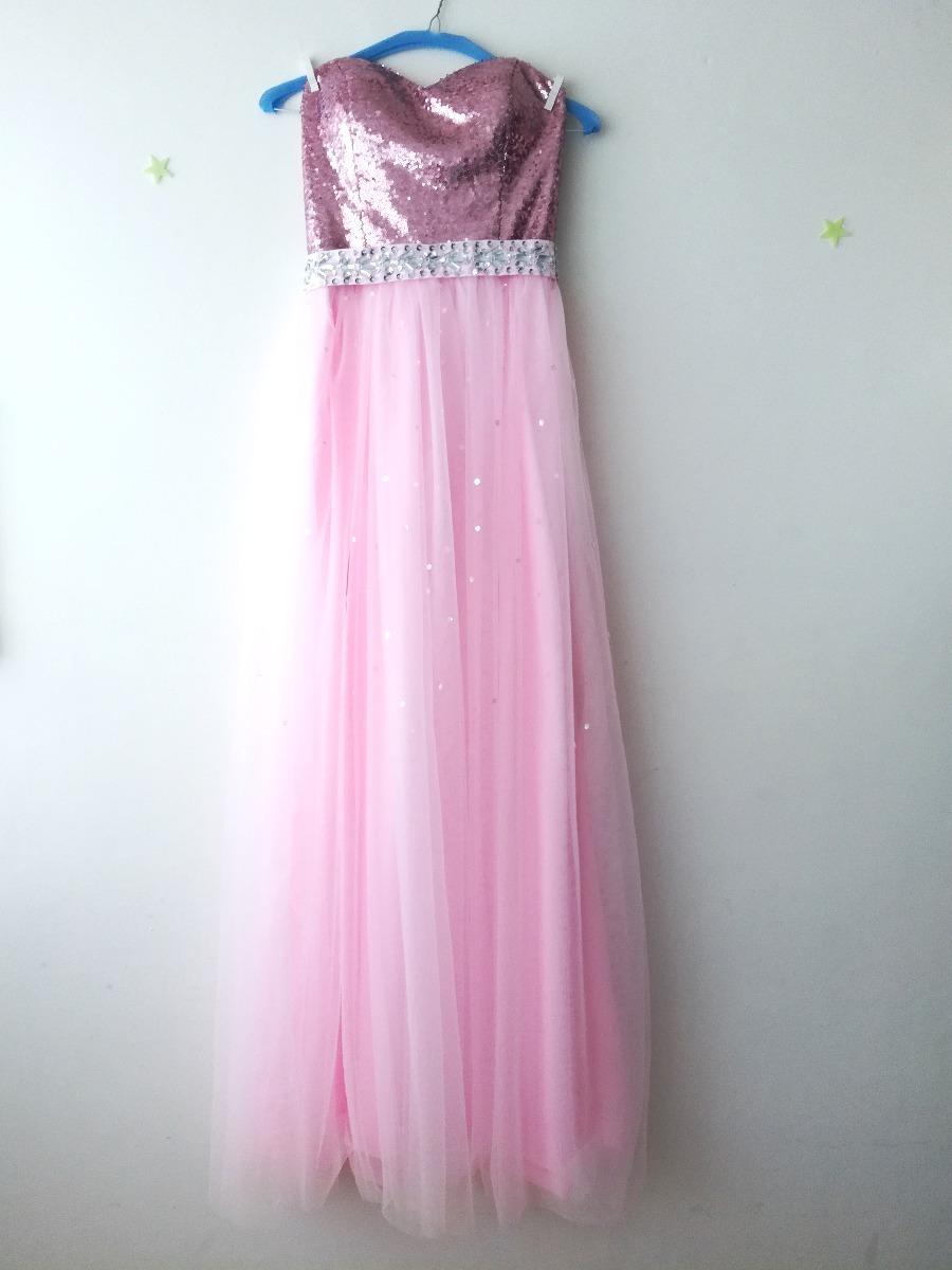 Vestido De Fiesta Largo Bonito Elegante - $ 950.00 en Mercado Libre