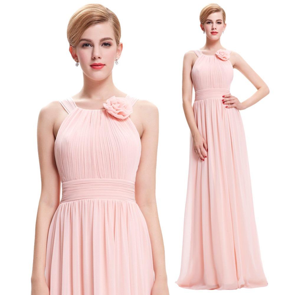 Vestido De Fiesta Largo Con Flor.meses Sin Interes - $ 995.00 en ...