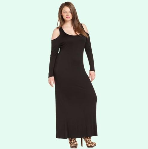 vestido de fiesta largo con manga tallas extra grandes 1656