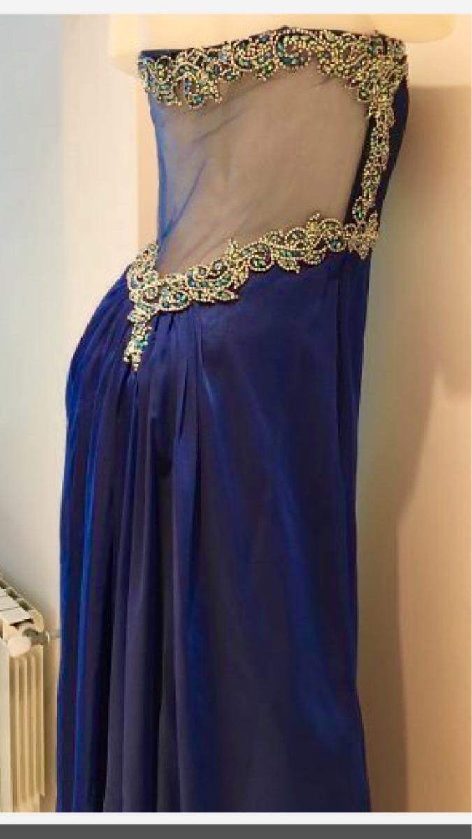 c445a238d0 vestido de fiesta largo espalda con tul bordado alta costura. Cargando zoom.