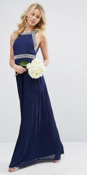 Asos vestidos fiesta azul