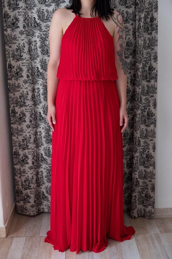 ed6e0eb7f vestido de fiesta largo maria vazquez talle 40 color rojo. Cargando zoom.