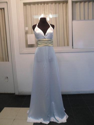 vestido de fiesta largo, novias, recepcion. civil. diseño