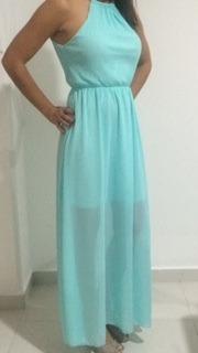 vestido de fiesta largo rosa y verde claro