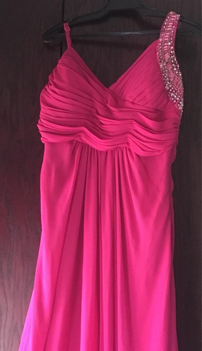 Vestido De Fiesta Largo Talla 10 Color Rosa Mexicano Fucsia ...