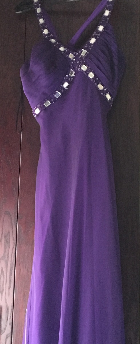 Vestido De Fiesta Largo Talla 10 - Mediana, Color Uva - $ 650.00 en ...