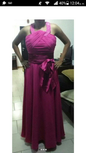 vestido de fiesta largo  talla m