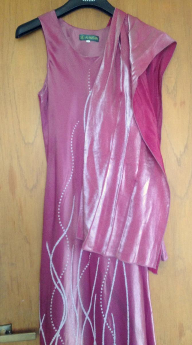 Vestido De Fiesta Largo Tela Tornasol - $ 980,00 en Mercado Libre