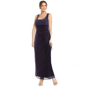 fa96a8057d Vestido De Fiesta Largo Violeta Brillo Envío Gtis Serenity