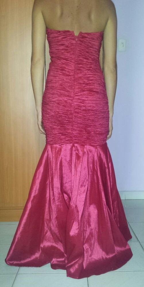 Vestido De Fiesta, Modelo Largo, Color Vinotinto, Nuevo - Bs. 650,00 ...